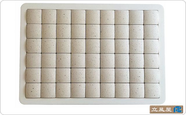 珪藻土タイルバスマット ホワイト Sサイズ