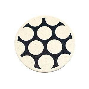 おしゃれ(オシャレ・お洒落)な珪藻土コースター 北欧風 ポルカドット patanシリーズ
