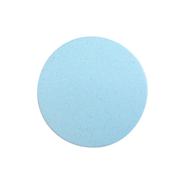 おしゃれ(オシャレ・お洒落)な珪藻土コースター 北欧風 ブルー 青 無地  単彩シリーズ